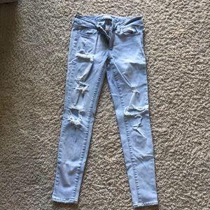 Ripped jean leggings